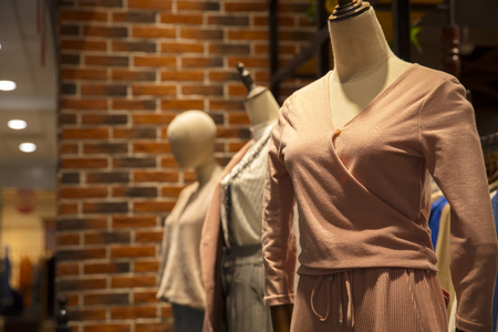Fashion dresses in the mall