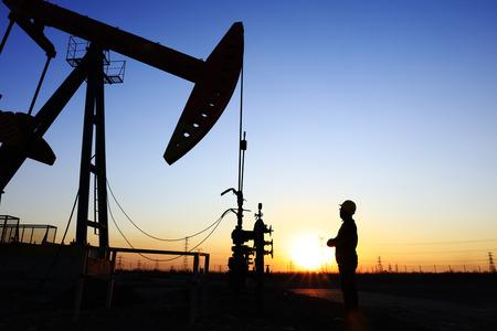 the oil worker working in oil field