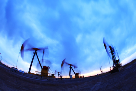 the silhouette of the oil pump