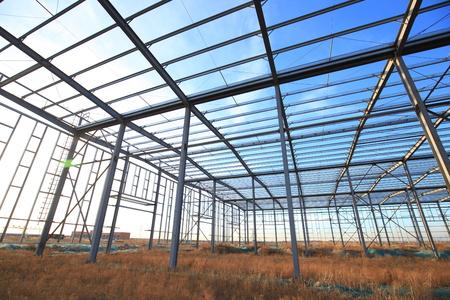 steel structure is under construction Stock fotó
