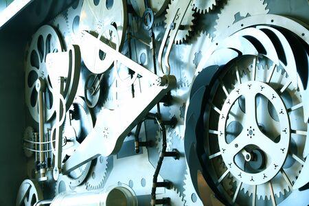 Engranaje, en, equipo industrial, primer plano