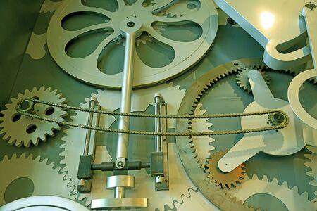 Gear on industrial equipment, close-up 版權商用圖片