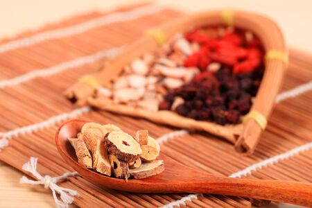 Traditional Chinese medicine, close-up