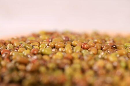 Mung bean, close-up, studio shot