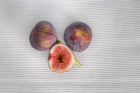 painterly: Common figs on a white background, painterly Stock Photo