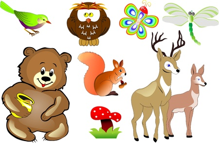 cartoon animals vector Vector