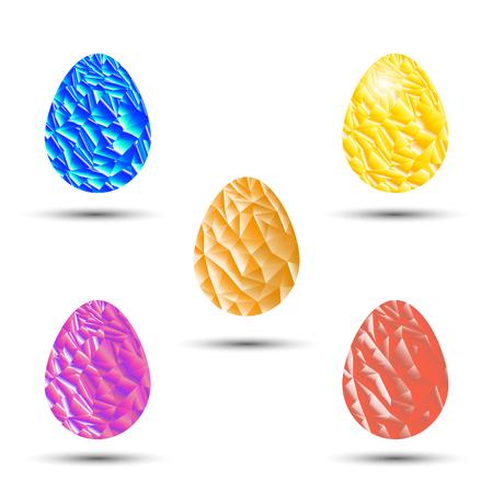 triangulation: Vector image of eggs. Triangulation.