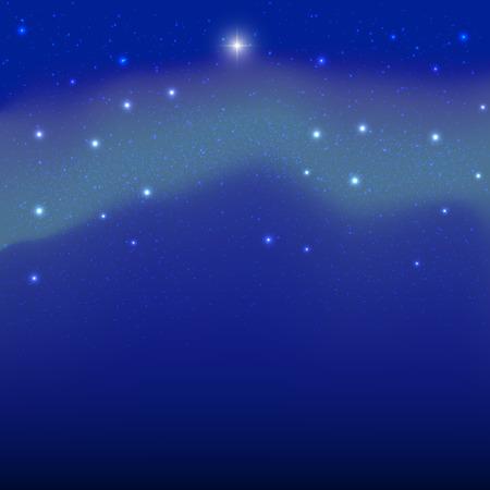 polar lights: Vector image of the polar stars and the northern lights. Illustration