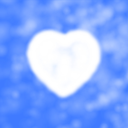 palate: Vector illustration of cloud in the form of heart in the sky. Background of the heavens and the heart. Air heart.