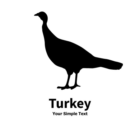 an example: Vector illustration of poultry turkey icon. Isolated silhouette on a white background. Illustration