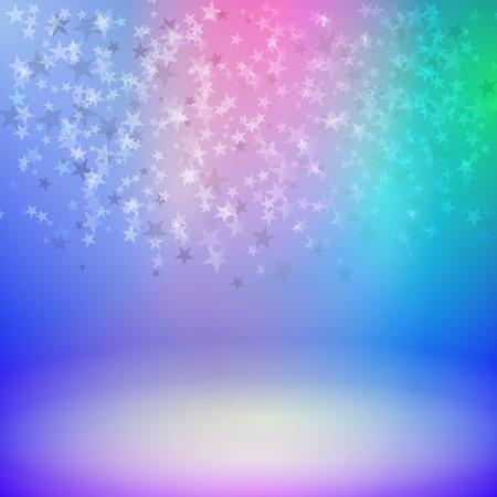 rejoice: Vector illustration background falling stars on stage. Illustration