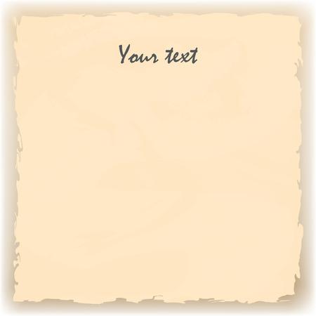 tattered: Vector illustration of yellow background old tattered paper. Illustration