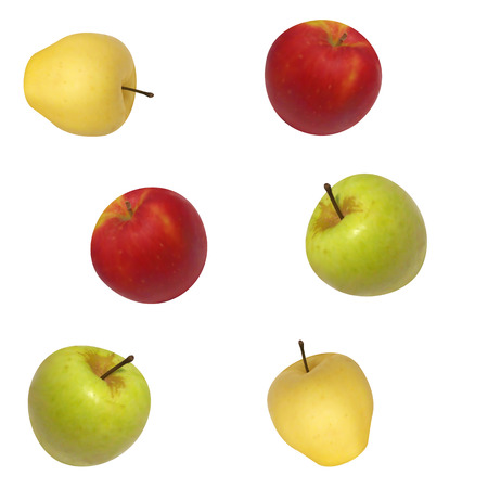 secluded: image seamless background of apples. Multi-colored apples.