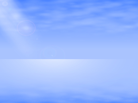 specular: Vector illustration of a background seascape, Sea Landscape. Complete calm sea, ocean. Background with sea mist. Specular sea horizon.