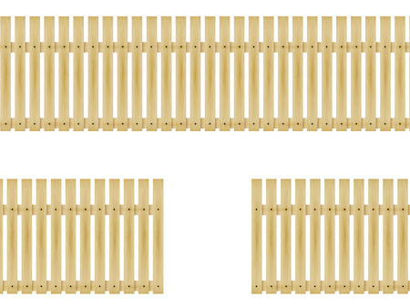 ligneous: Vector illustration wooden fence isolated on white background.