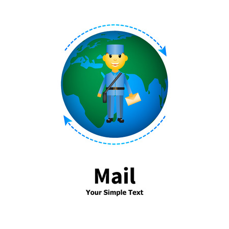 sending: Vector illustration of the concept of mail delivery. Infographics sending letters. Isolated on white background. Illustration
