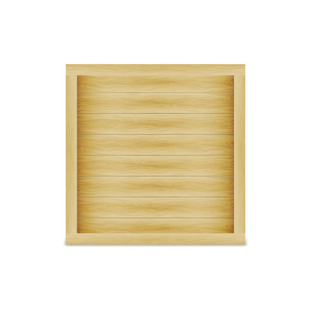 ligneous: Vector illustration of a closed wooden box. On an isolated white background.