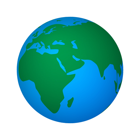 mondial: Vector illustration of abstract global world. Icon planet earth isolated on white background.