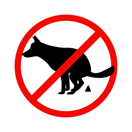 Vector illustration of a prohibition sign paddock animals. Isolated on white background. The concept of dog walking is prohibited. Illustration