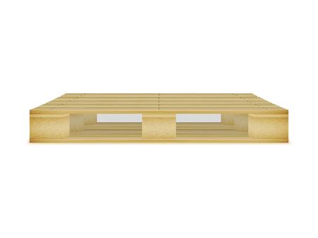 Ilustración vectorial de una paleta de madera vacía. Imagen, imagen aislada sobre fondo blanco. El palet para el transporte, transporte de carga. Ilustración de vector