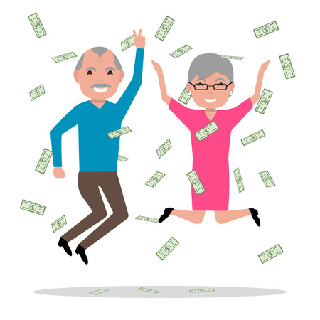 became: Grandparents won the big prize and became rich