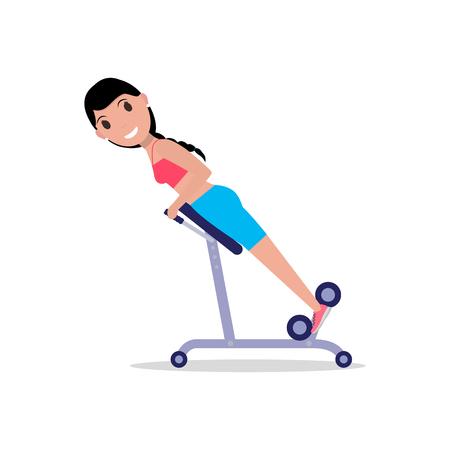 Girl swinging back training apparatus