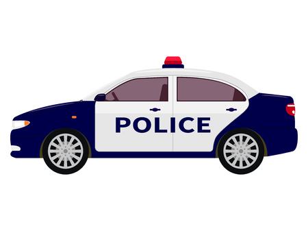 Vector illustratie van een cartoon politie auto