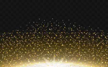 Gold dust, a glowing sparkling particle of powder Stock Vector - 138439352