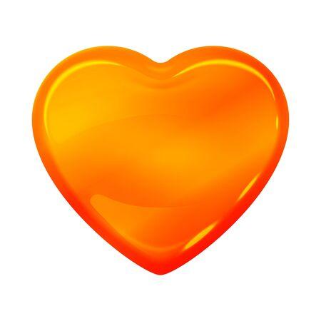 Caramel syrup amber heart shape