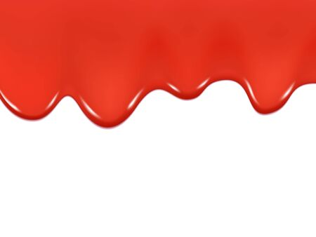 Dripping ketchup isolated on a white