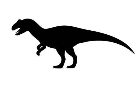 Vector allosaurus silhouette  イラスト・ベクター素材