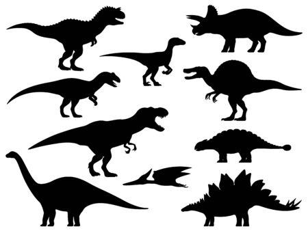 Vector dinosaur silhouette Illustration