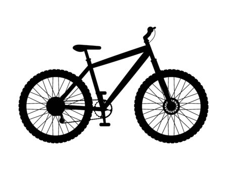 Silhouette mountain bike