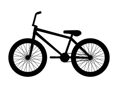 Silhouette icon bmx bike