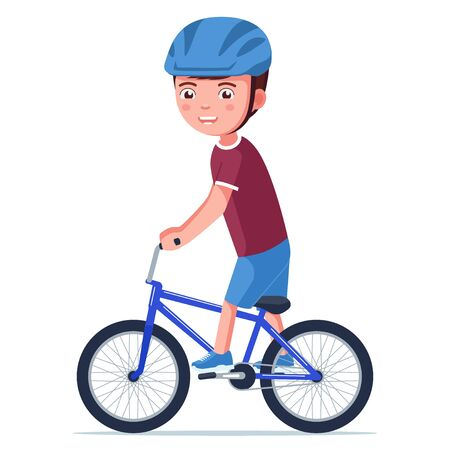 Vector boy riding a bmx bike 矢量图像