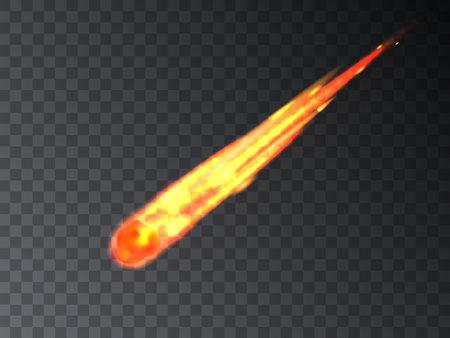 Falling meteor, meteorite, comet