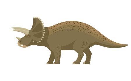 Prehistoric dinosaur triceratops 向量圖像