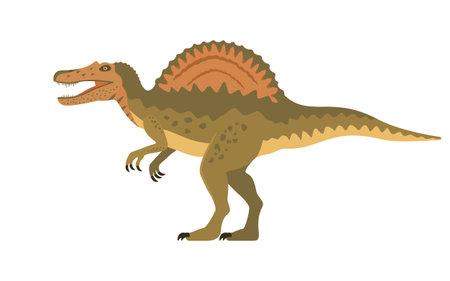 Vector spinosaurus dinosaur