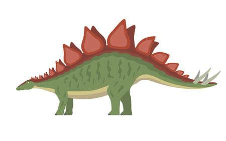 Vector stegosaurus dinosaur