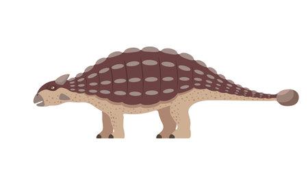 Vector ankylosaurus dinosaur