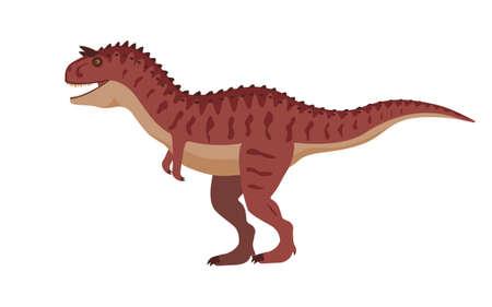 Vector carnotaurus dinosaur
