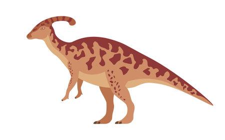 Vector parasaurolophus dinosaur