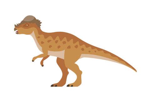 Vector pachycephalosaurus dinosaur 向量圖像