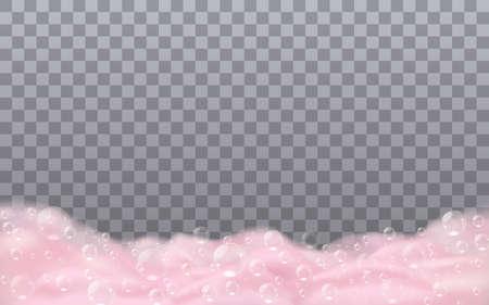Bath pink soap foam 向量圖像