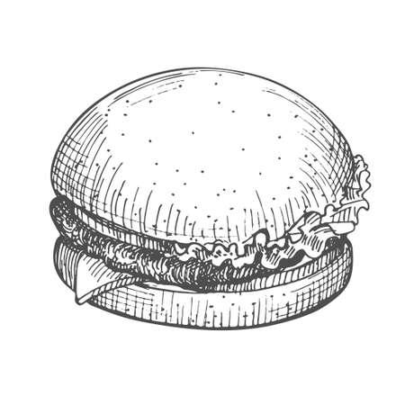 Burger hand drawn