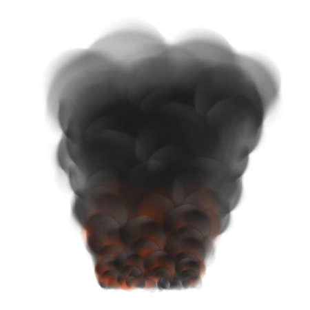 Black smoke from the fire 向量圖像