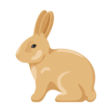 Cute yellow Easter bunny