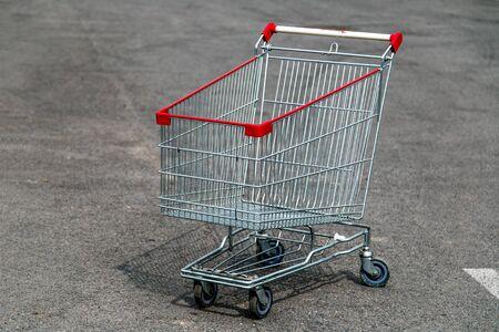 Supermarket trolley on the street