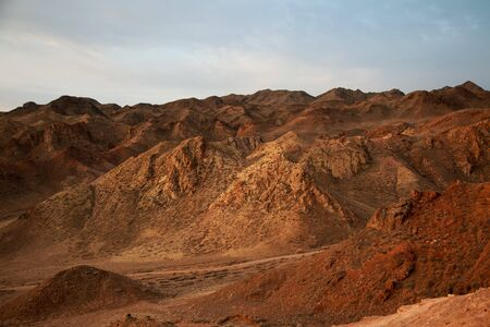 Charyn canyon is the famous place in Kazakhstan, similar to the Martian landscape