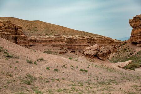 Charyn canyon in Kazakhstan 版權商用圖片